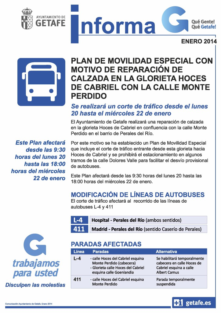plan movilidad glorieta Hoces  Cabriel