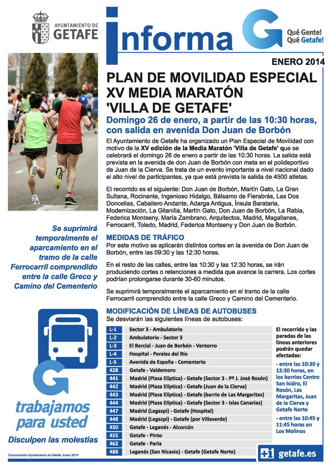 informa plan movilidad media maratón 2014