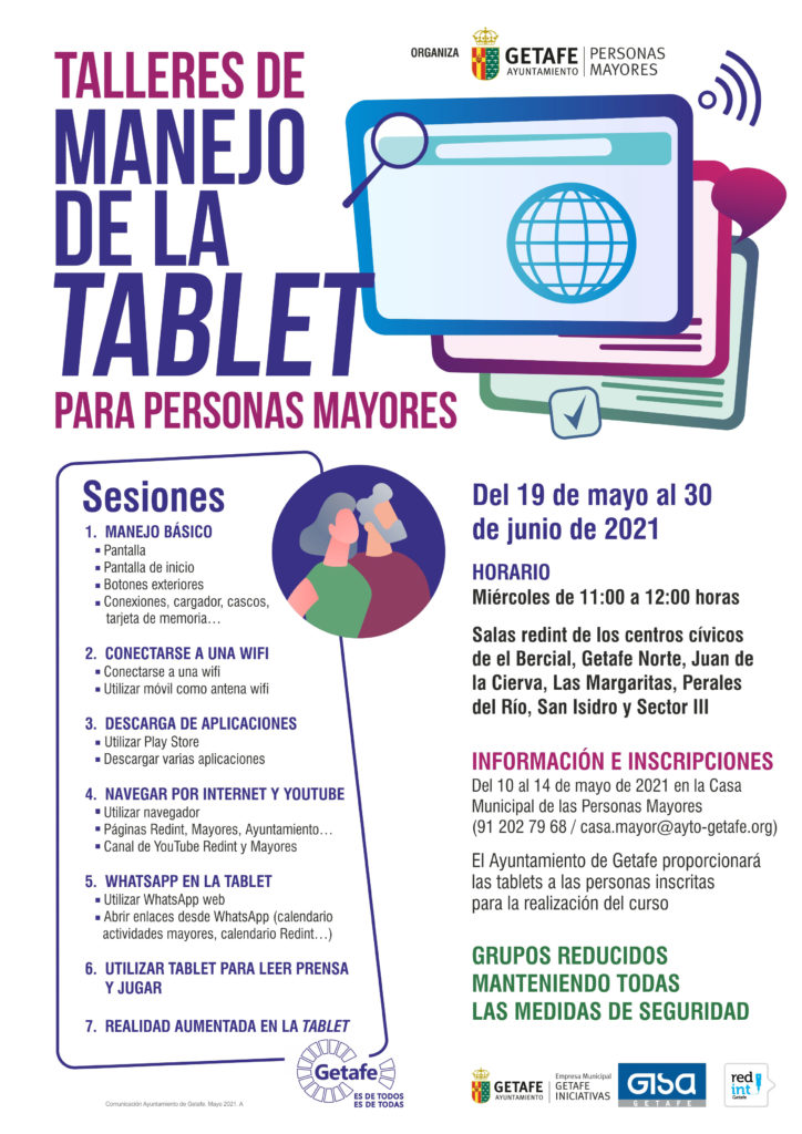 talleres tablet mayores